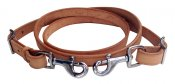 Leather tiedown strap