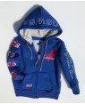 KIDS HOODED SWEAT JKT royal blue