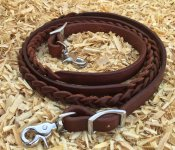 Braided leather closed reins