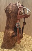 Cattleman's double ear headstall