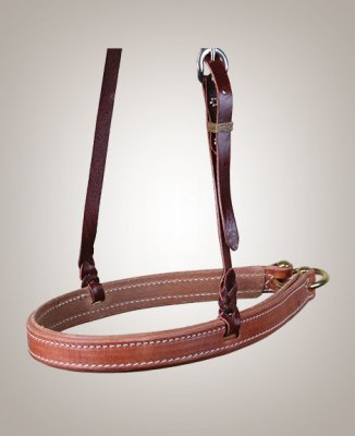 Cactus Noseband – Harness Leather