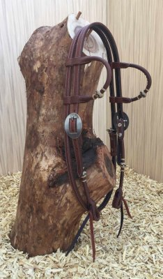 Buckaroo Braiding Double ear headstall