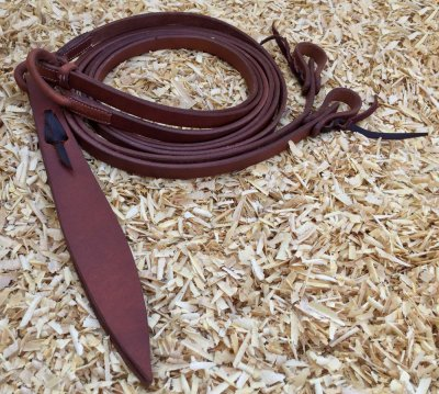 Leather romal reins