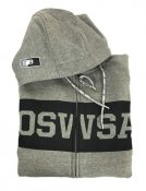 "MENS HOODED SWEAT JACKET ""DANNY"" Grey"