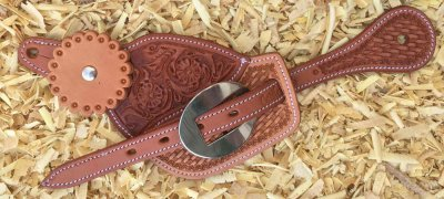 Cattleman's two-tone spurstraps